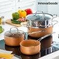 Μαγειρικά Σκευή με Σκεύος Ατμού Copper-Effect InnovaGoods (6 Τεμάχια)