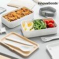 Διπλό Ερμητικό Τάπερ Φαγητού με Μαχαιροπήρουνα Bentower InnovaGoods