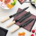 Ιαπωνικό σετ Μαχαιριών με Θήκη Μεταφοράς Damas·q InnovaGoods 4 τεμάχια