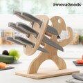 Σετ Μαχαίρια με Ξύλινη Στάση Spartan InnovaGoods 7 τεμάχια