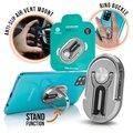 Stand Holder για Κινητά Τηλέφωνα 3in1 Ασημένιο Δαχτυλίδι