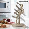 Σετ Μαχαιριών με Βάση Μαχαιριών Vud? Premium InnovaGoods (6 Τεμάχια) - Χρυσαφί