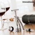 Σετ με Αξεσουάρ για Κρασί με Τιρμπουσόν Screwpull InnovaGoods (4 Τεμάχια)