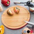 Κυκλική Σανίδα Κουζίνας από Μπαμπού TakeTokio - Γκρι (30 x 1,5 cm)