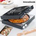 Ηλεκτρική Συσκευή Κατασκευής Πίτσας με Βιβλίο Συνταγών Presto! InnovaGoods 1200W Μαύρη